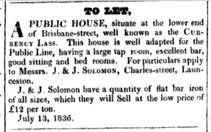Launceston Advertiser, 11 August 1836