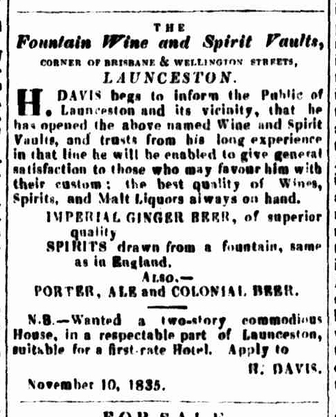 Launceston Advertiser, 12 November 1835