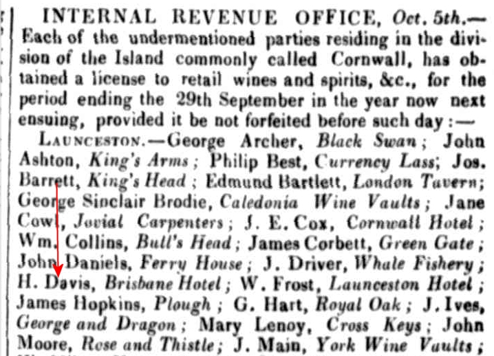 Launceston Advertiser, 13 October 1836