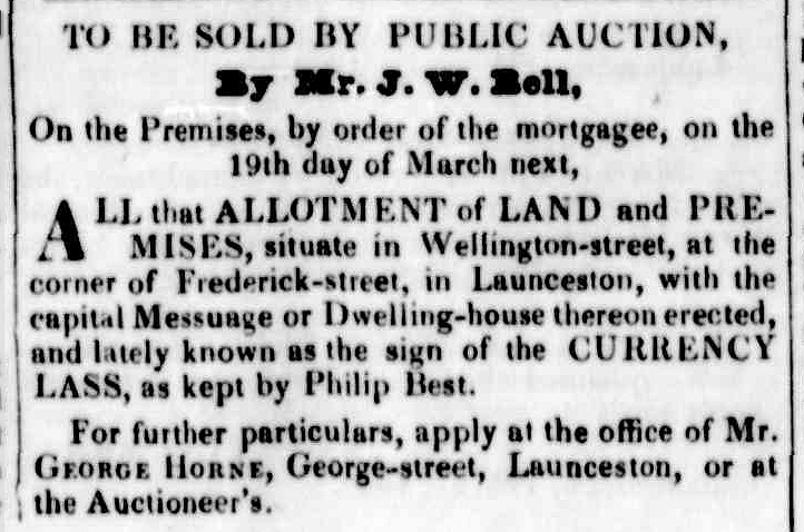 Launceston Advertiser, 14 March 1839