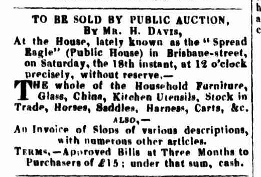Launceston Advertiser, 16 January 1834 - SE