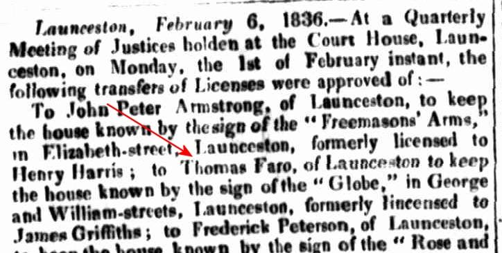 Launceston Advertiser, 18 February 1836
