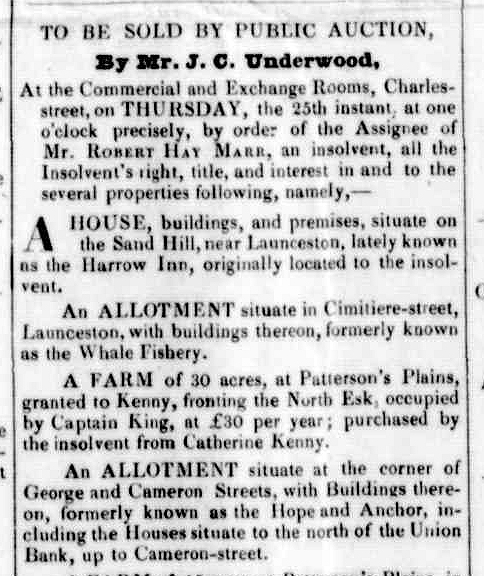 Launceston Advertiser, 18 July 1839