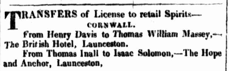 Launceston Advertiser, 19 May 1834