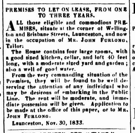 Launceston Advertiser, 2 January 1834