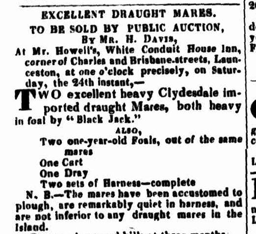Launceston Advertiser, 22 August 1833