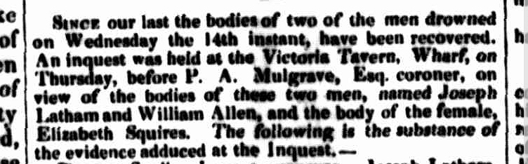 Launceston Advertiser, 22 August 1839
