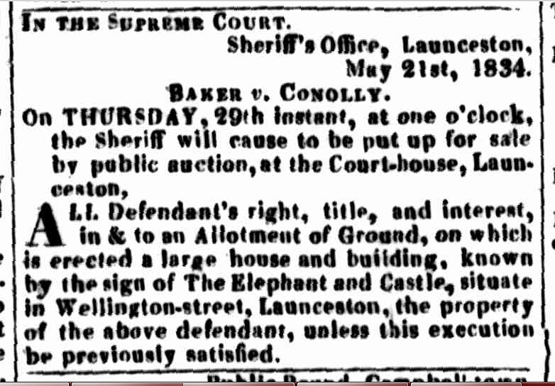 Launceston Advertiser, 22 May 1834