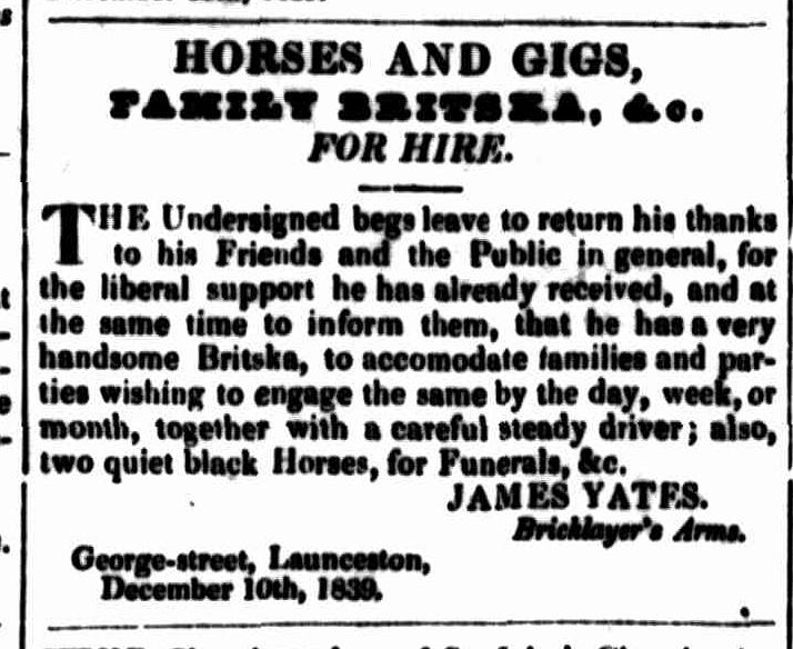 Launceston Advertiser, 26 December 1839