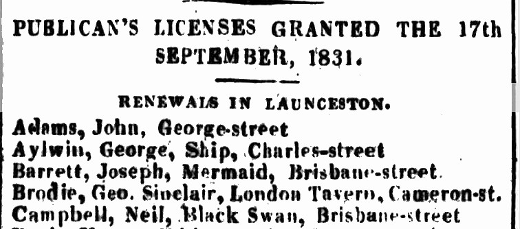 Launceston Advertiser, 26 September 1831 - Mermaid