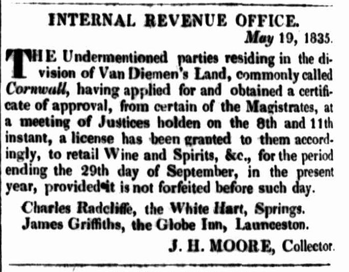 Launceston Advertiser, 4 June 1835