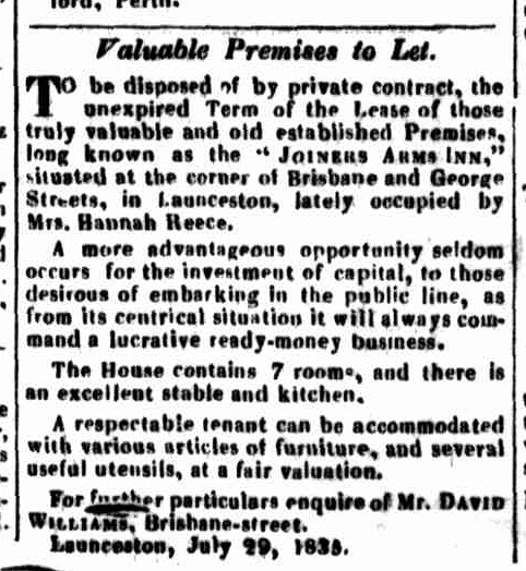 Launceston Advertiser, 8 October 1835