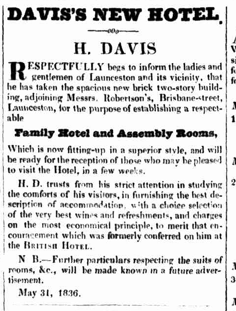 Launceston Advertiser, 9 June 1836