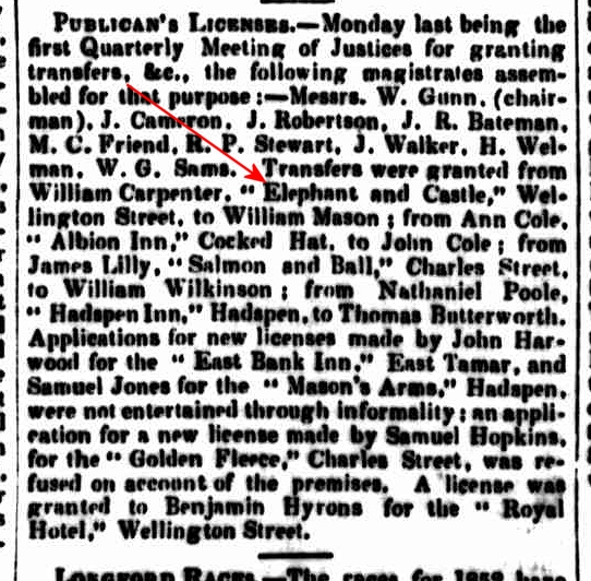 Launceston Examiner, 5 November 1851