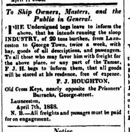 Cornwall Chronicle, 7 April 1838