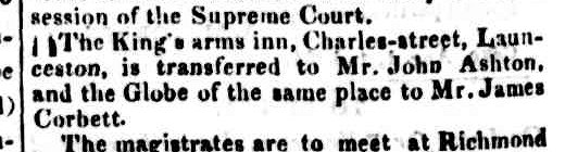 Hobart Town Courier, 22 August 1834