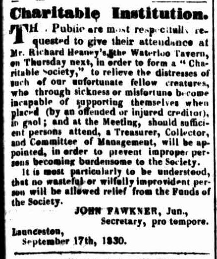 Launceston Advertiser, 20 September 1830