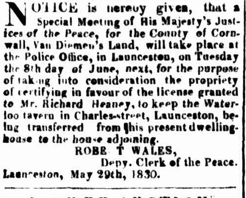Launceston Advertiser, 21 May 1830