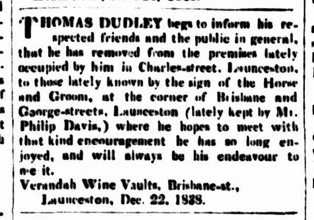 Cornwall Chronicle, 22 December 1838