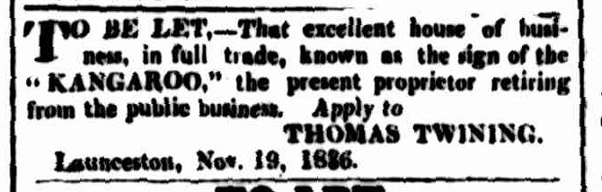 Cornwall Chronicle, 26 November 1836