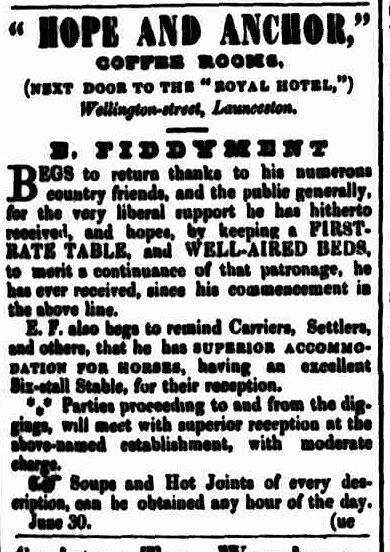 Cornwall Chronicle, 31 July 1852