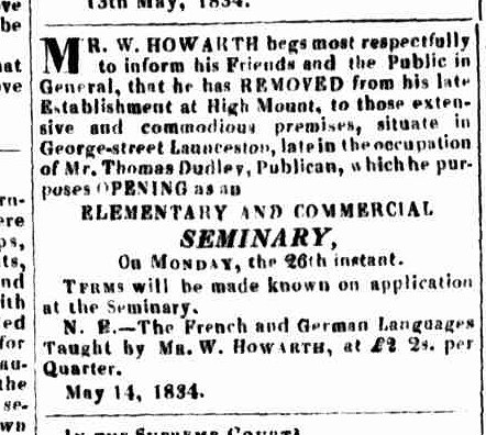 Launceston Advertiser, 15 May 1834