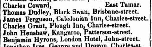 Launceston Courier, 5 September 1842