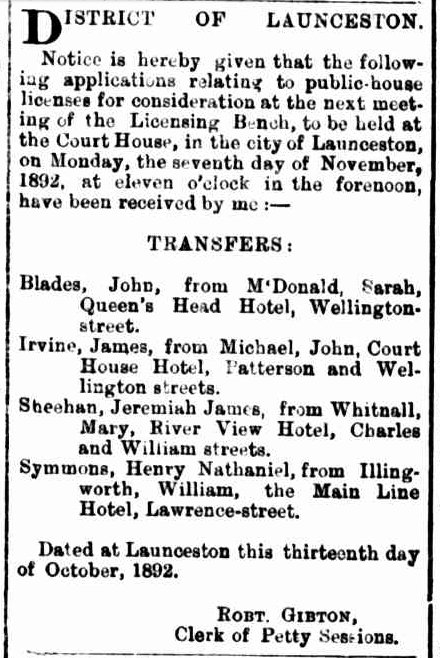 Launceston Examiner, 15 October 1892