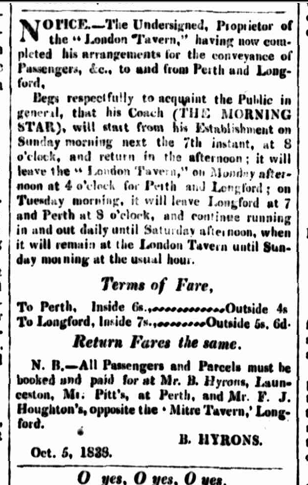 Cornwall Chronicle, 3 November 1838