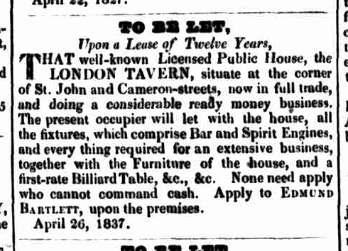 Launceston Advertiser, 27 April 1837