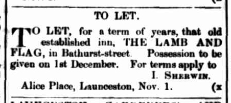 launceston-examiner-1-november-1862