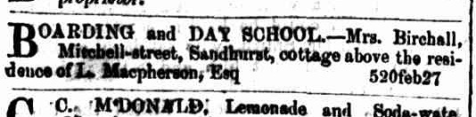 Bendigo Advertiser, 13 December 1855