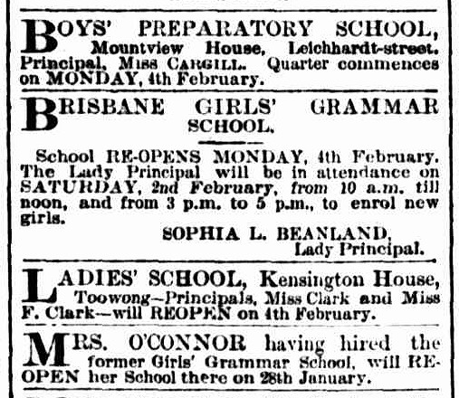 Brisbane Courier, 9 January 1884