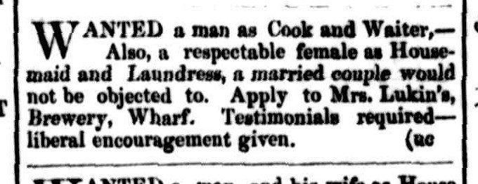 Cornwall Chronicle, 27 December 1854