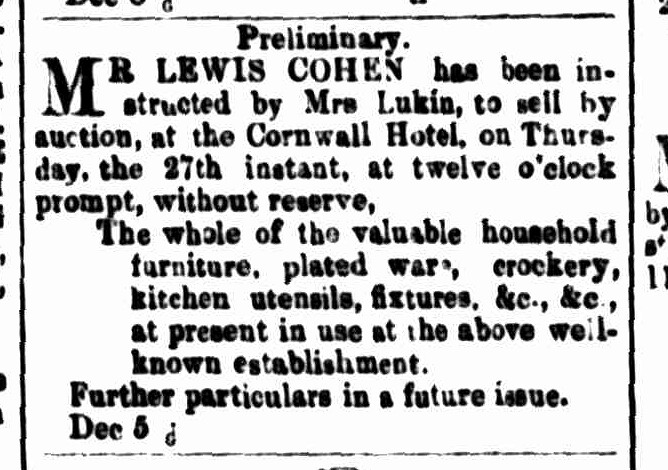 Cornwall Chronicle, 8 December 1860