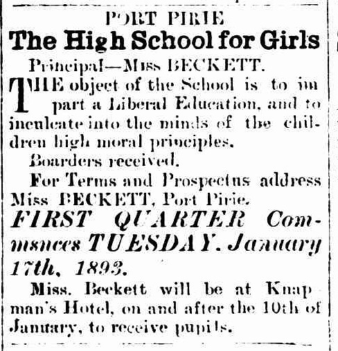 Port Pirie Standard, 5 January 1893