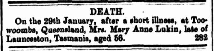 Queensland Times, 6 February 1869