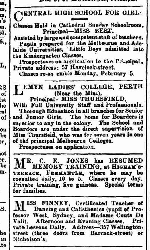 West Australian, 1 January 1900