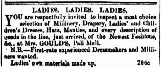Bendigo Advertiser, 17 November 1855