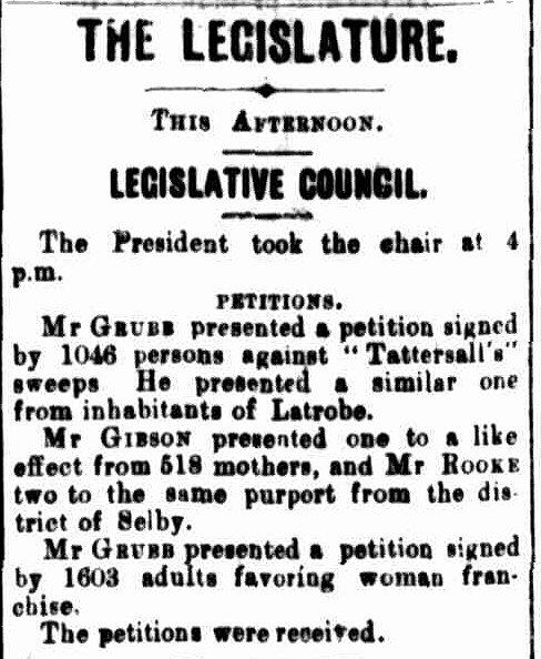 Tasmanian News, 19 August 1896