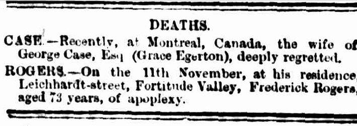Brisbane Courier, 19 December 1881