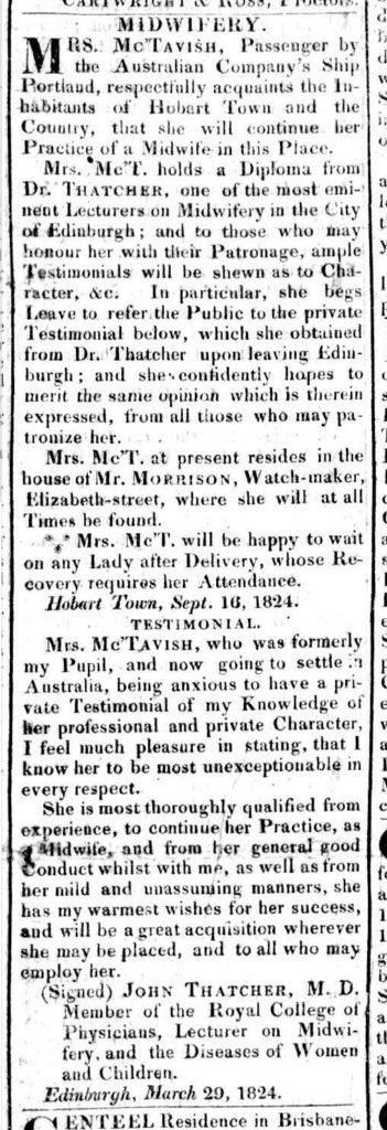 Hobart Town Gazette, 17 September 1824